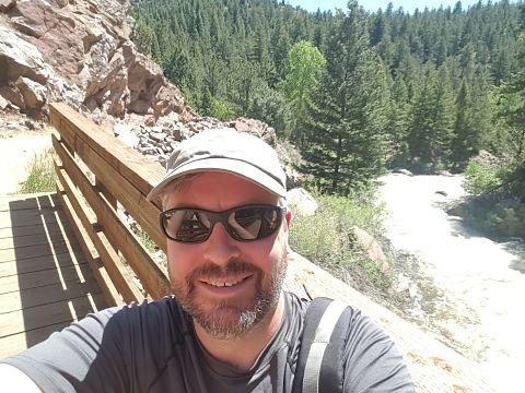Codey enjoying a Colorado hike
