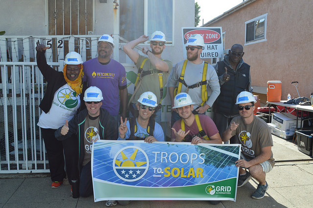The Troops to Solar team with homeowner, Melvin Ray Jackson