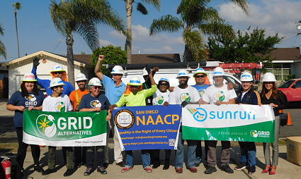Picture of group at Solar Equity Initiative installation in San Diego
