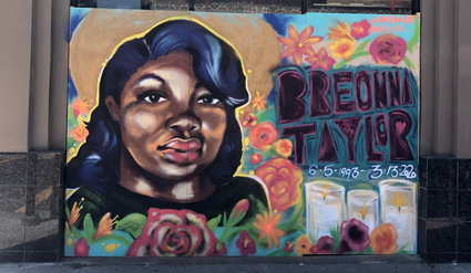 Public mural of Breonna Taylor