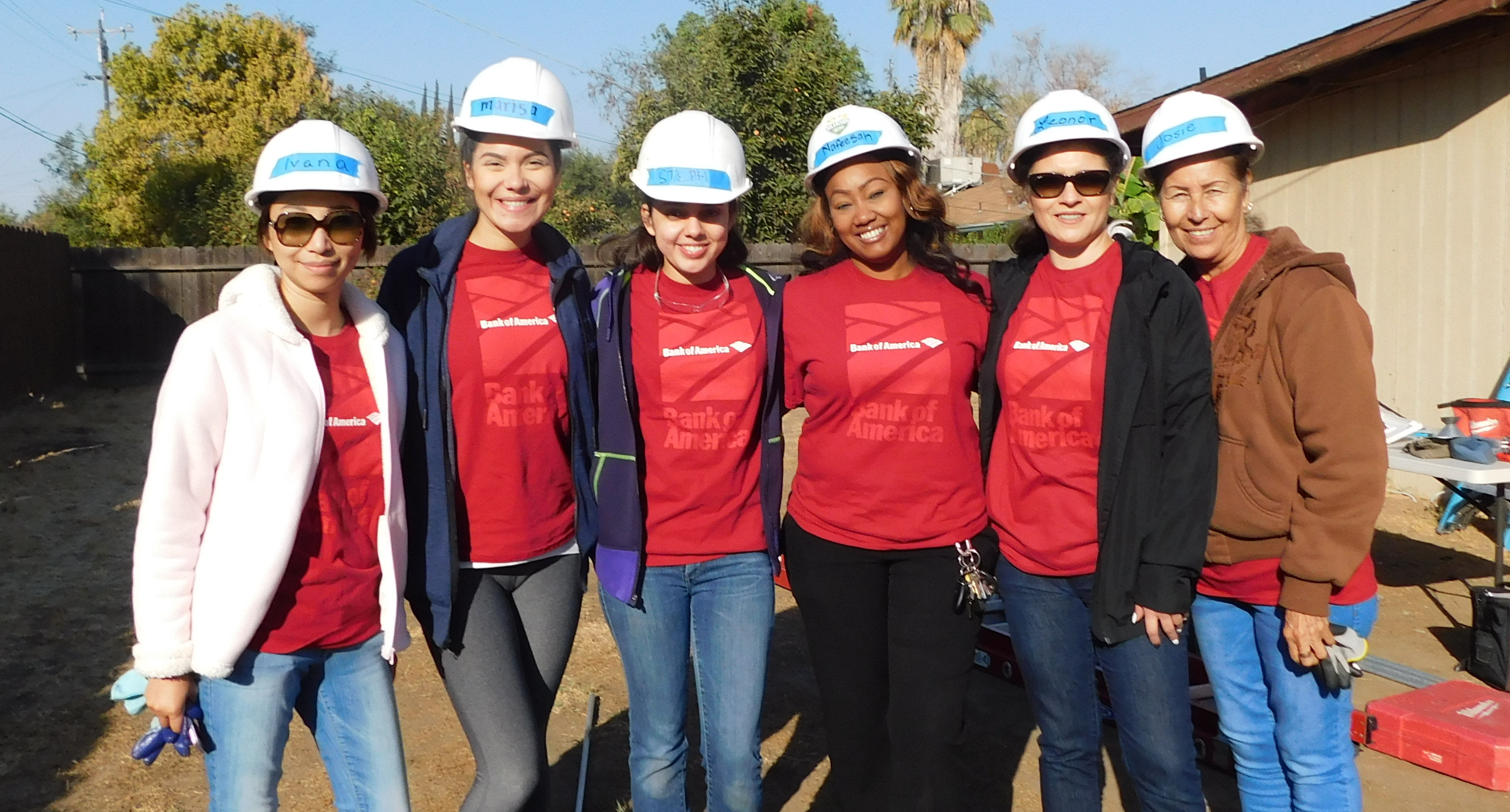 Bank of America Staff at an installation