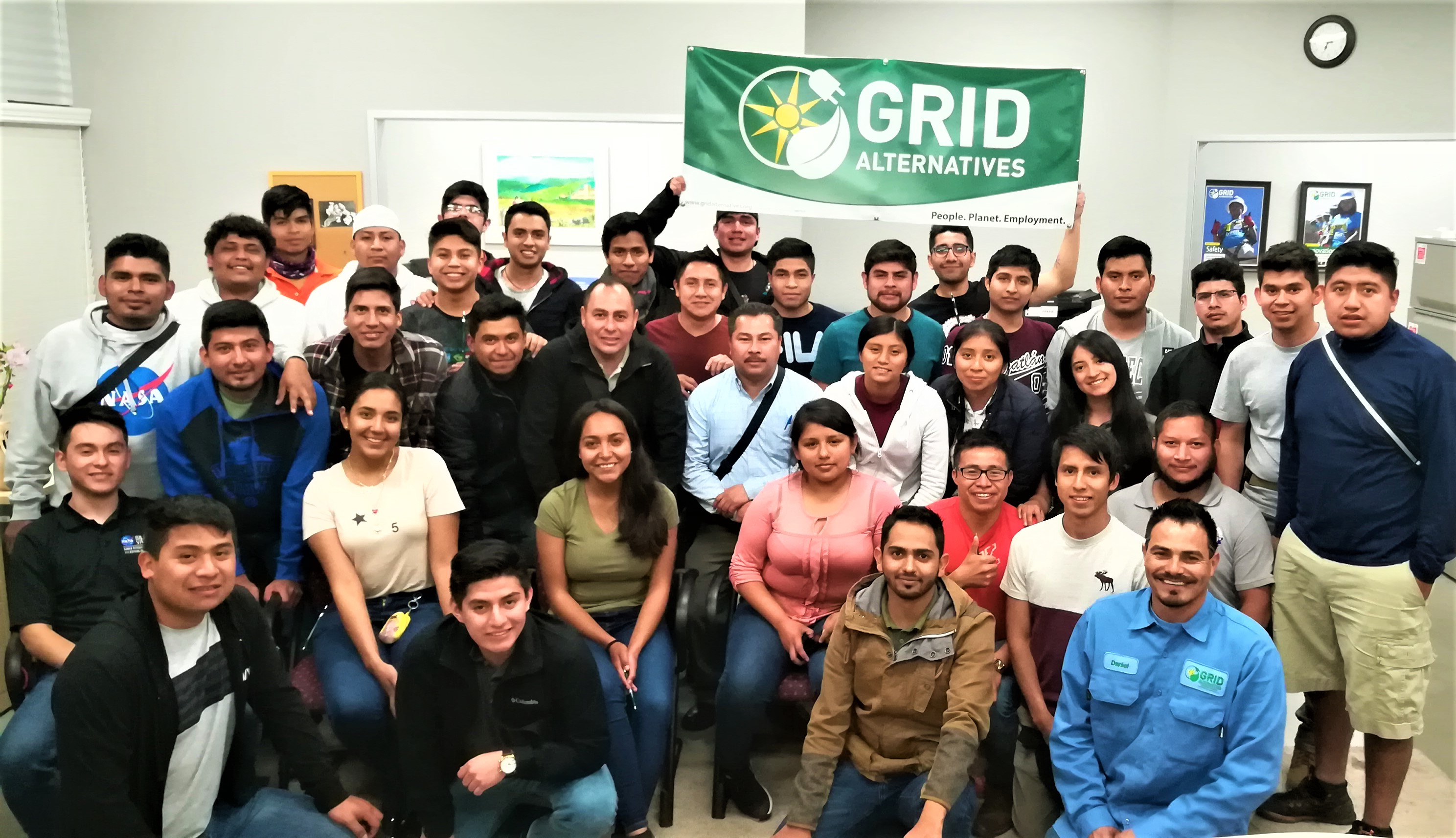 Group of students from Mexican university visiting GRID Central Valley