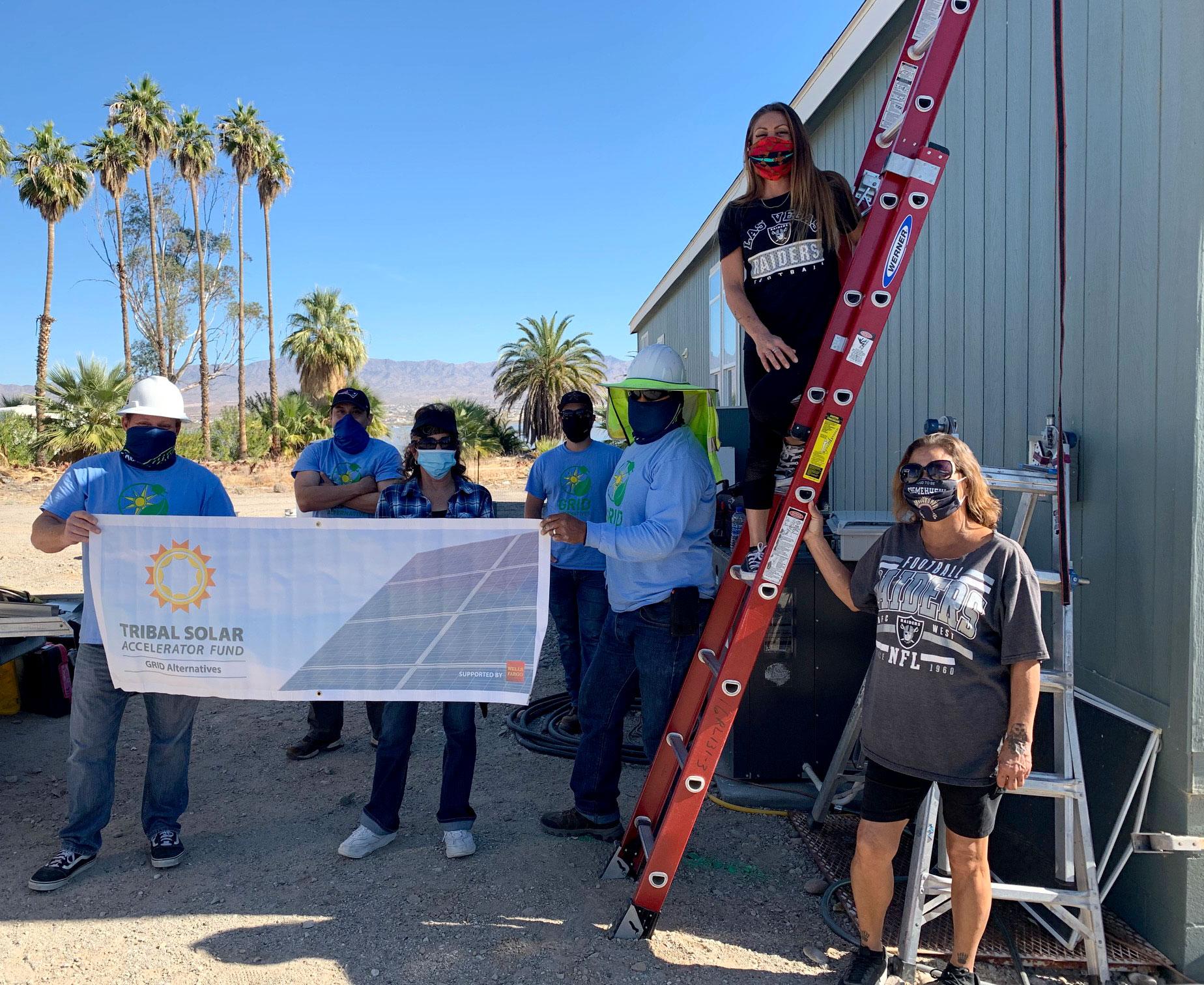 Chemehuevi Tribal Solar Project Construction Team picture