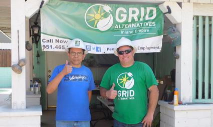 Homeowner Eduardo Zermeno with Construction Operations Manager Dan Glasow