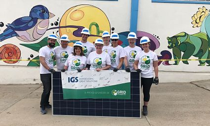 IGS employees at a GRID install