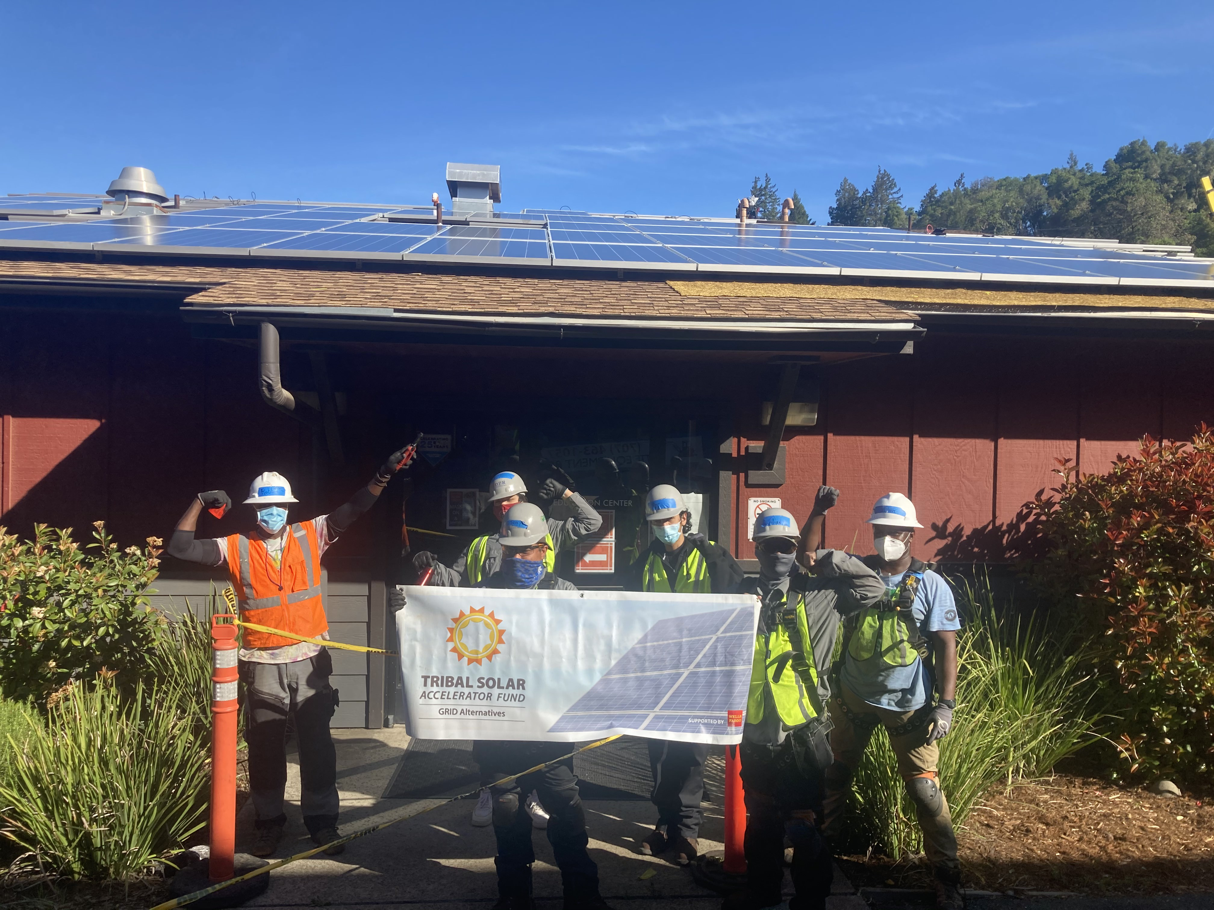 Coyote Valley trainees with GRID banner