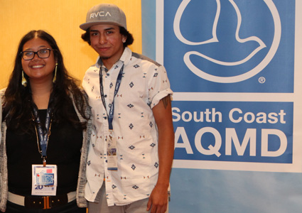 SolarCorps Construction Fellow Kanyon Martinez with Workforce  and Volunteer Manager Cindy Corrales