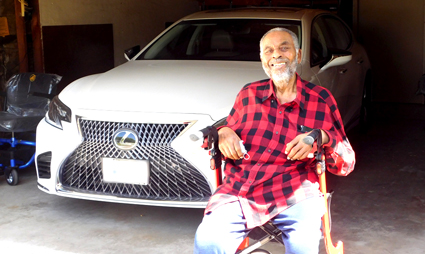 San Bernardino resident and disabled veteran Leonard Davenport
