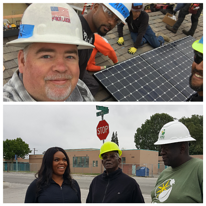 Mayor Aja Brown joined our union install team in Compton