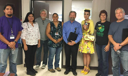 Pictured here are Community Development and Tribal Manager Lisa Castilone with project consultant Anthony Papavero and Santa Rosa Band of Cahuilla Indians tribal members