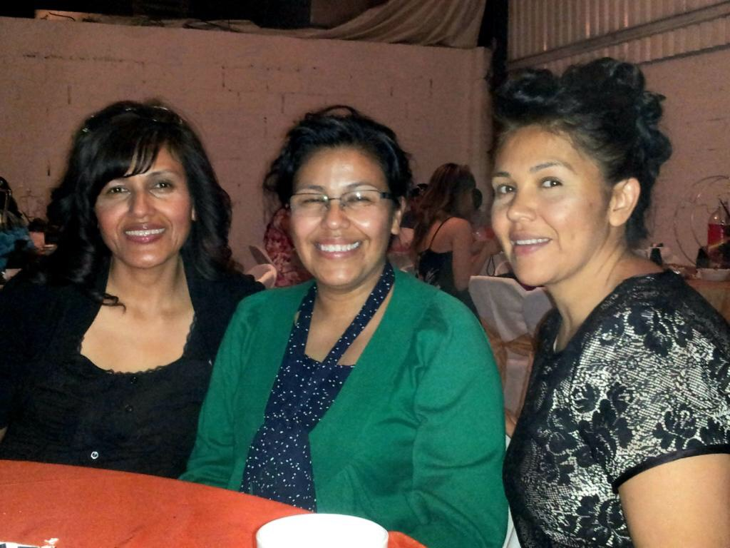 Sisters Josefina Moreno, Imelda Flores and Sandra Barraza