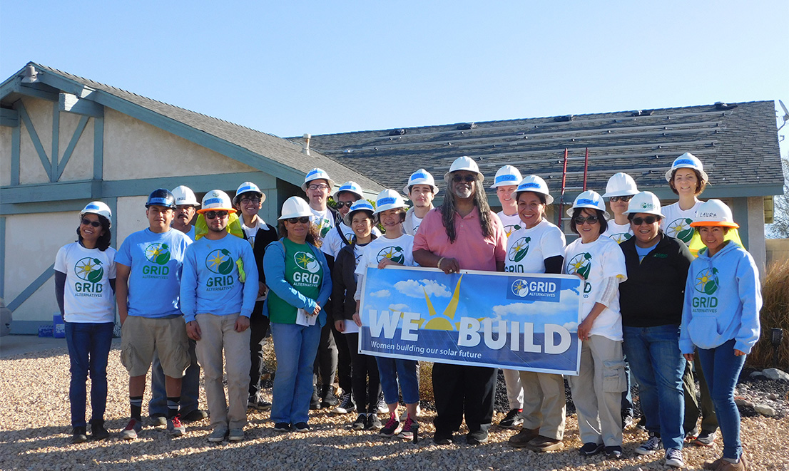 Homeowner Richard Gardenhire pictured here with GRID volunteers and staff