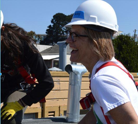 Becky having fun at a recent WeBuild install in San Francisco