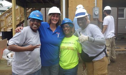 Helen Wilson with NEW volunteers