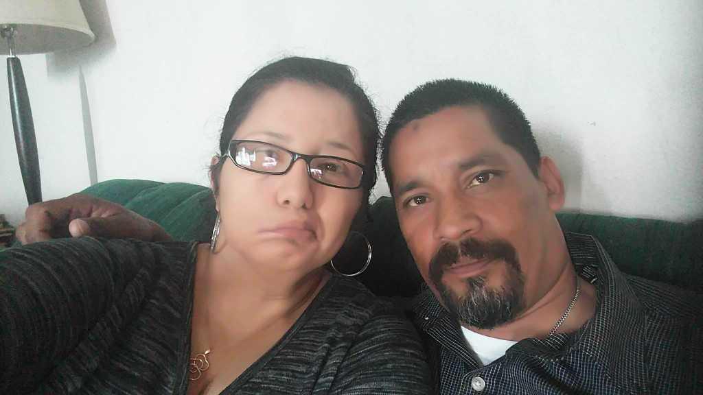Evangelina and her husband, Alfred
