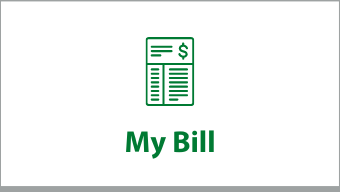 """Clickable box that says """"My Bill"""""""