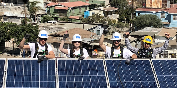GRID corporate sponsor IGS on a roof at a Mexico installation