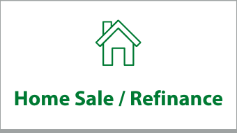 "Clickable box that says ""Home Sale / Refinance"""