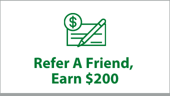 """Clickable box that says """"Refer a Friend, Earn $200"""""""