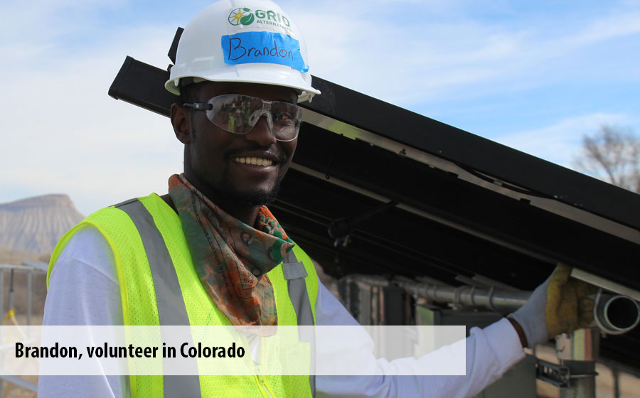 Brandon, a volunteer in Colorado