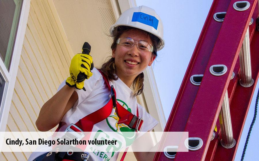 Cindy, a San Diego Solarthon volunteer