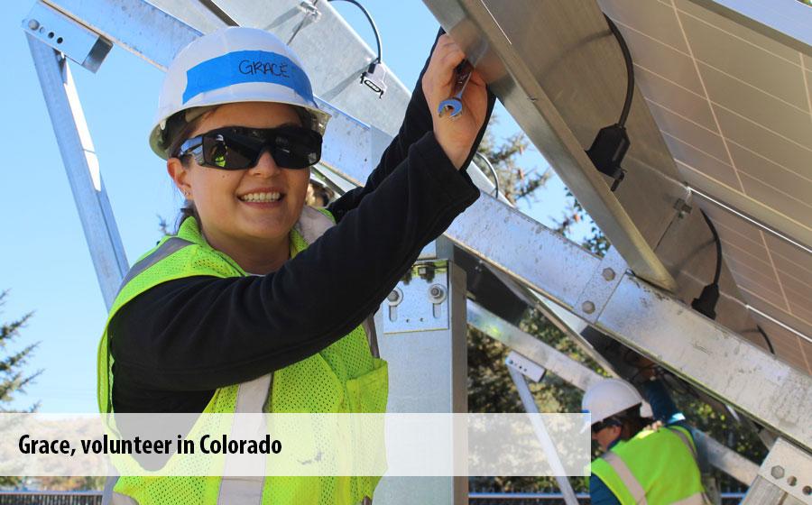 Grace, a volunteer in Colorado