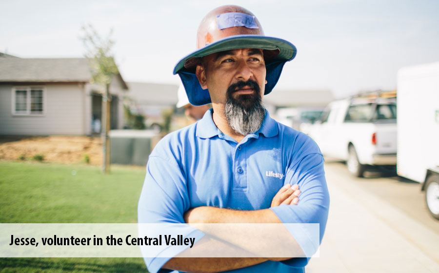 Jesse, a volunteer in Central Valley