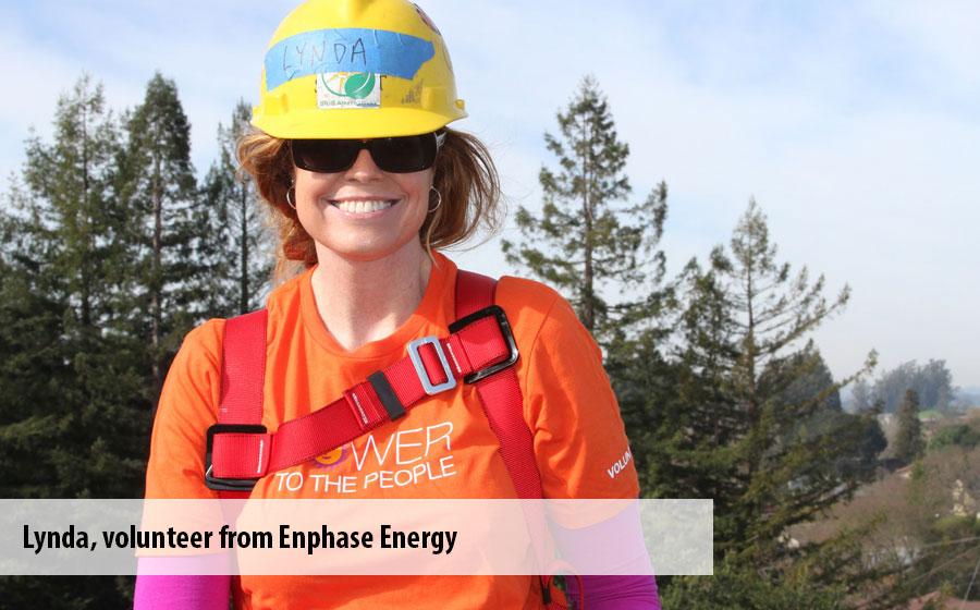 Lynda, a volunteer from Enphase Energy