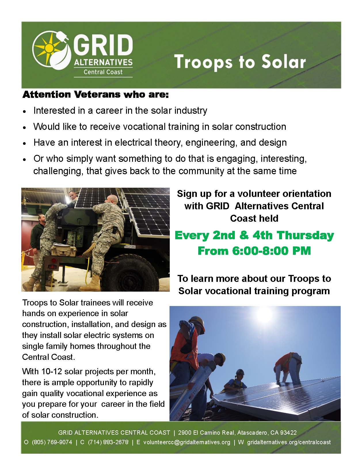 Troops to Solar