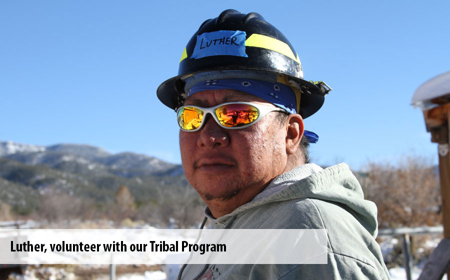 Luther, a volunteer with our Tribal Program